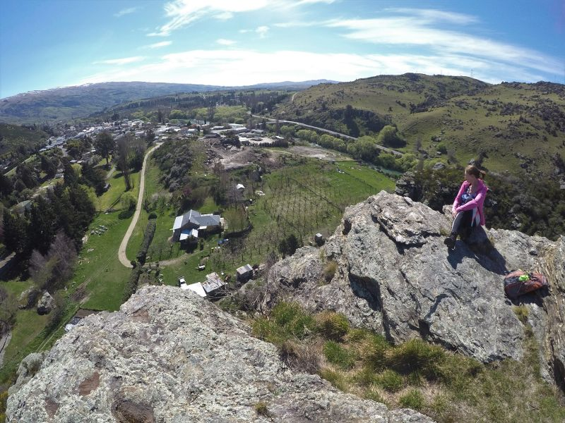 Summit of Frog Rock walk in Roxburgh - Copywrite Roxburgh Guide